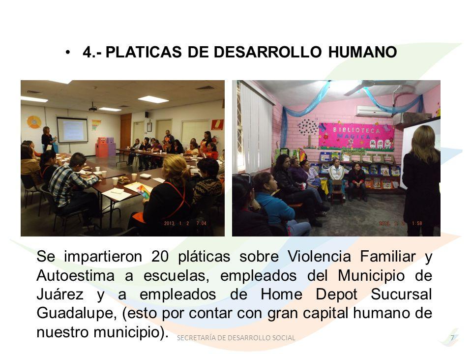4.- PLATICAS DE DESARROLLO HUMANO