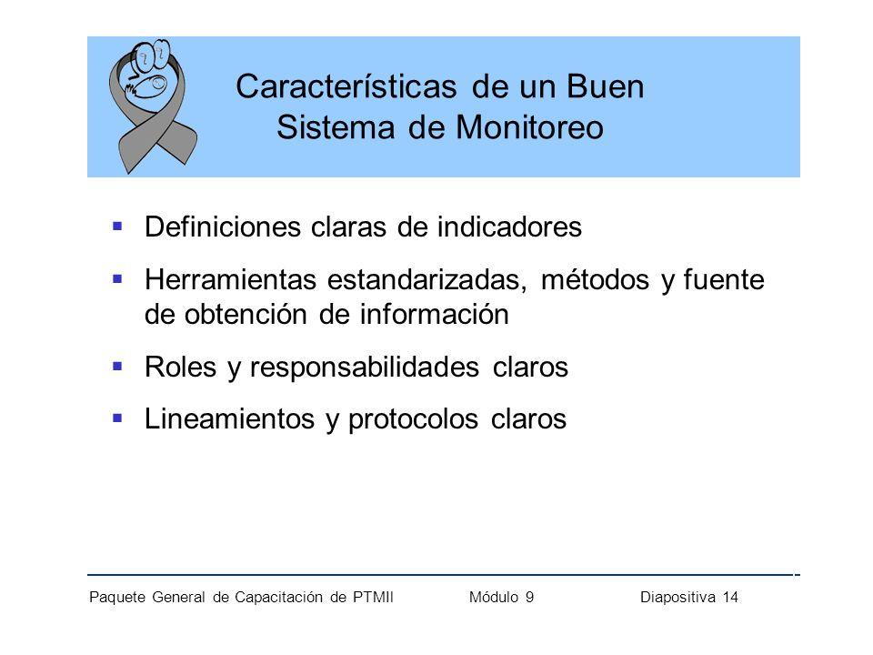 Características de un Buen Sistema de Monitoreo