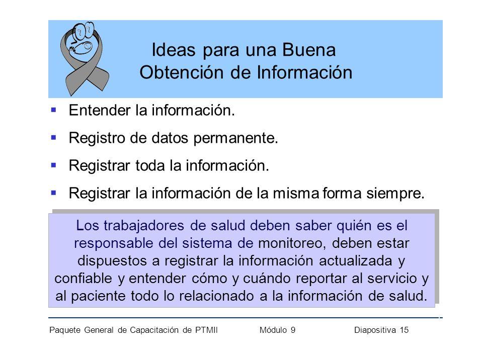 Ideas para una Buena Obtención de Información
