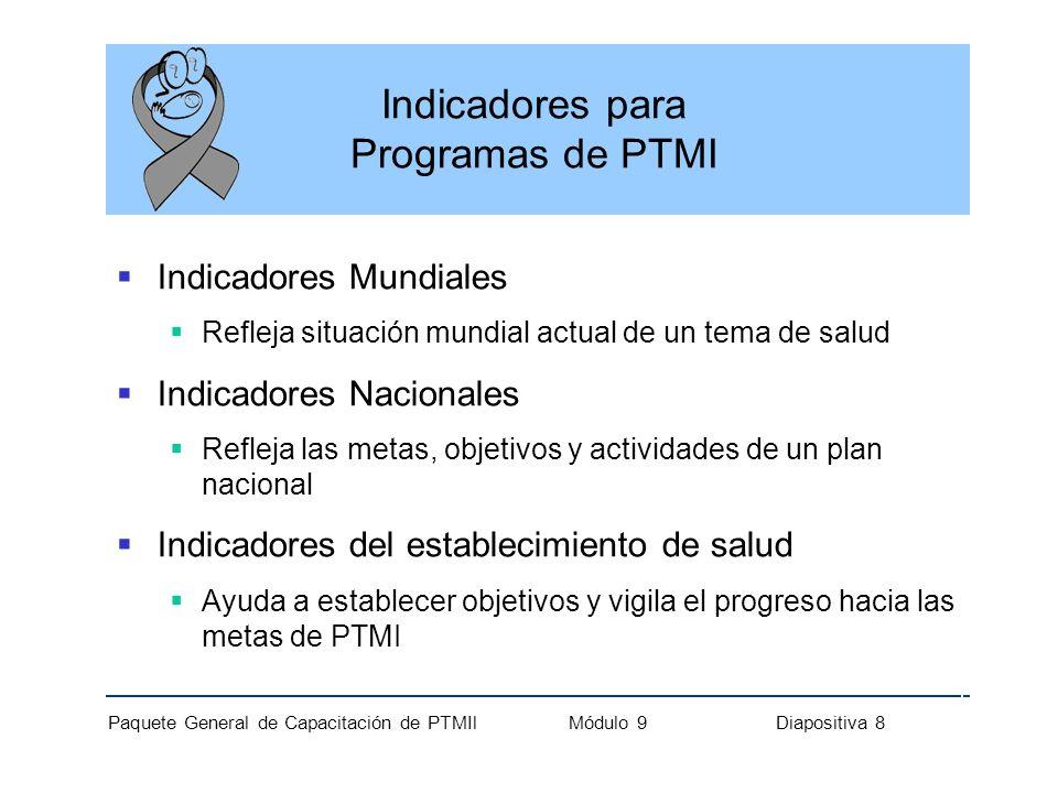 Indicadores para Programas de PTMI