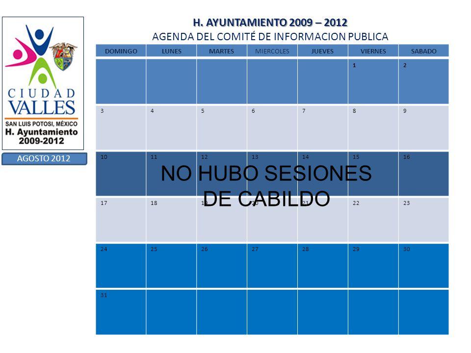 NO HUBO SESIONES DE CABILDO