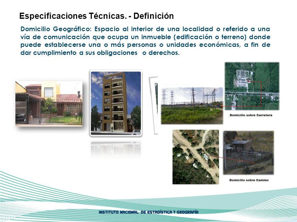 Especificaciones Técnicas. - Definición