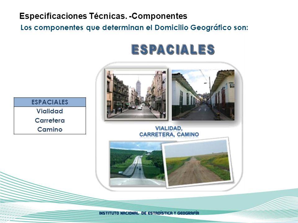 Especificaciones Técnicas. -Componentes
