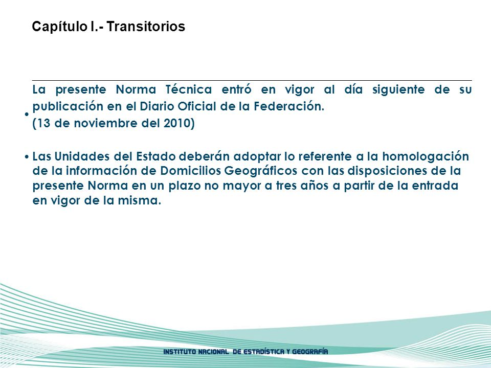 Capítulo I.- Transitorios