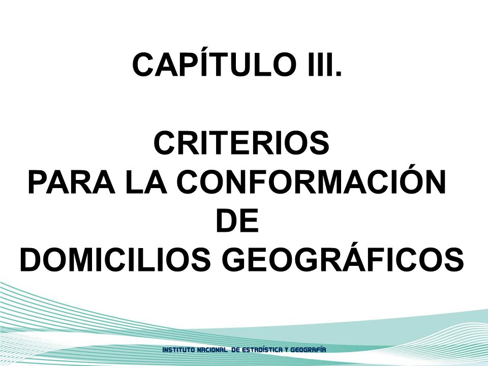 DOMICILIOS GEOGRÁFICOS