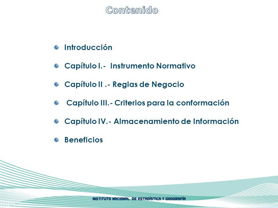 Contenido Introducción Capítulo I.- Instrumento Normativo