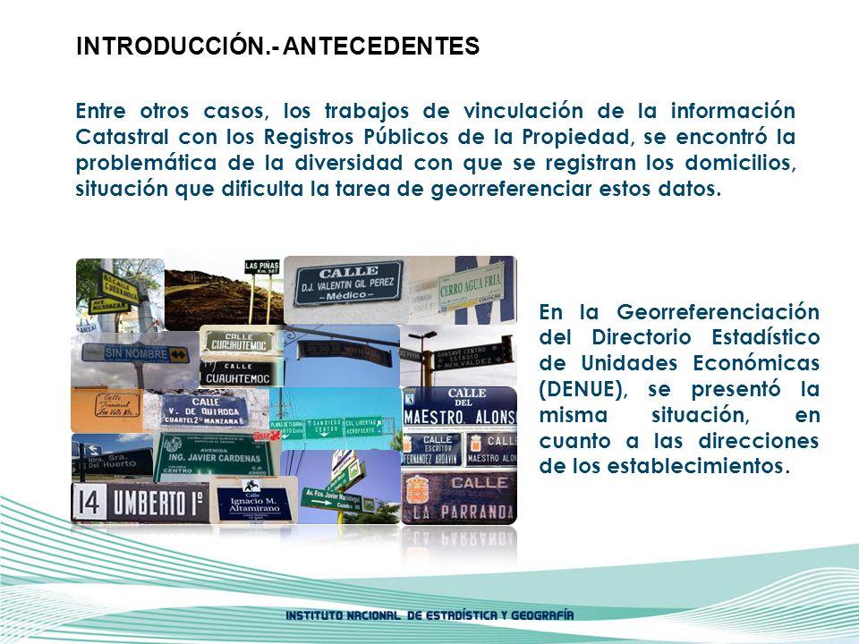 INTRODUCCIÓN.- ANTECEDENTES