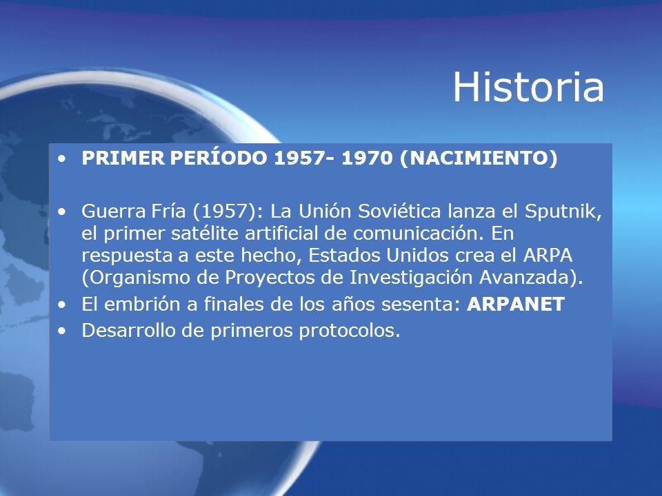 Historia PRIMER PERÍODO 1957- 1970 (NACIMIENTO)