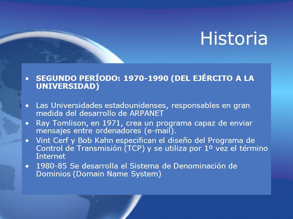 Historia SEGUNDO PERÍODO: 1970-1990 (DEL EJÉRCITO A LA UNIVERSIDAD)