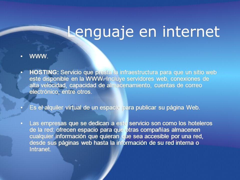 Lenguaje en internet WWW.