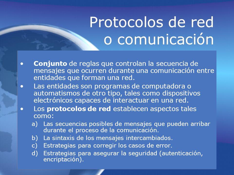 Protocolos de red o comunicación