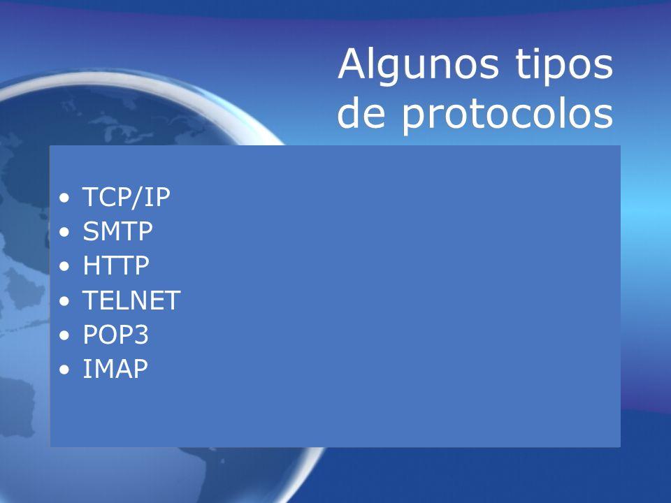 Algunos tipos de protocolos