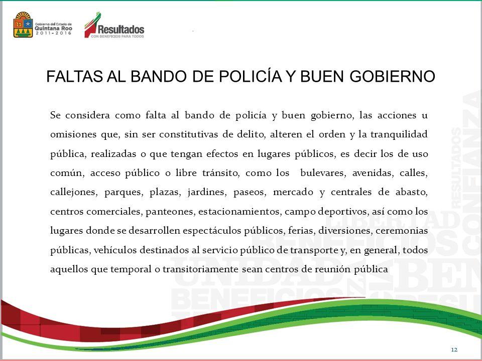 FALTAS AL BANDO DE POLICÍA Y BUEN GOBIERNO