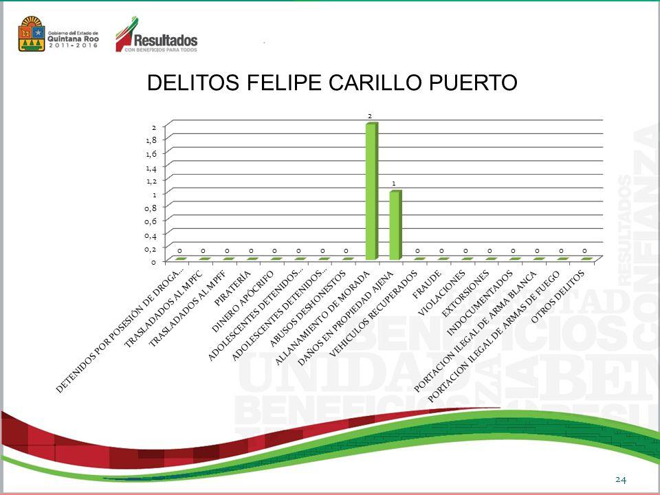 DELITOS FELIPE CARILLO PUERTO