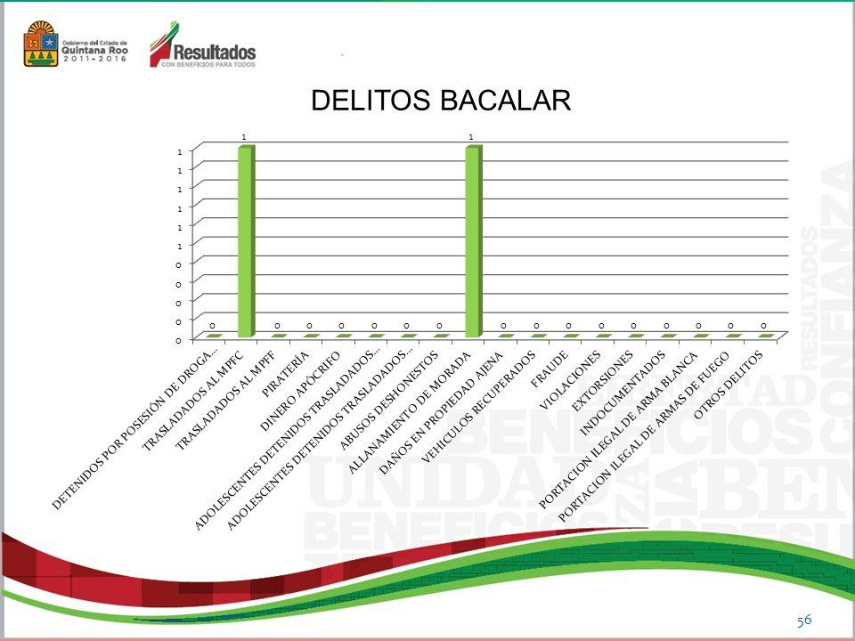 DELITOS BACALAR