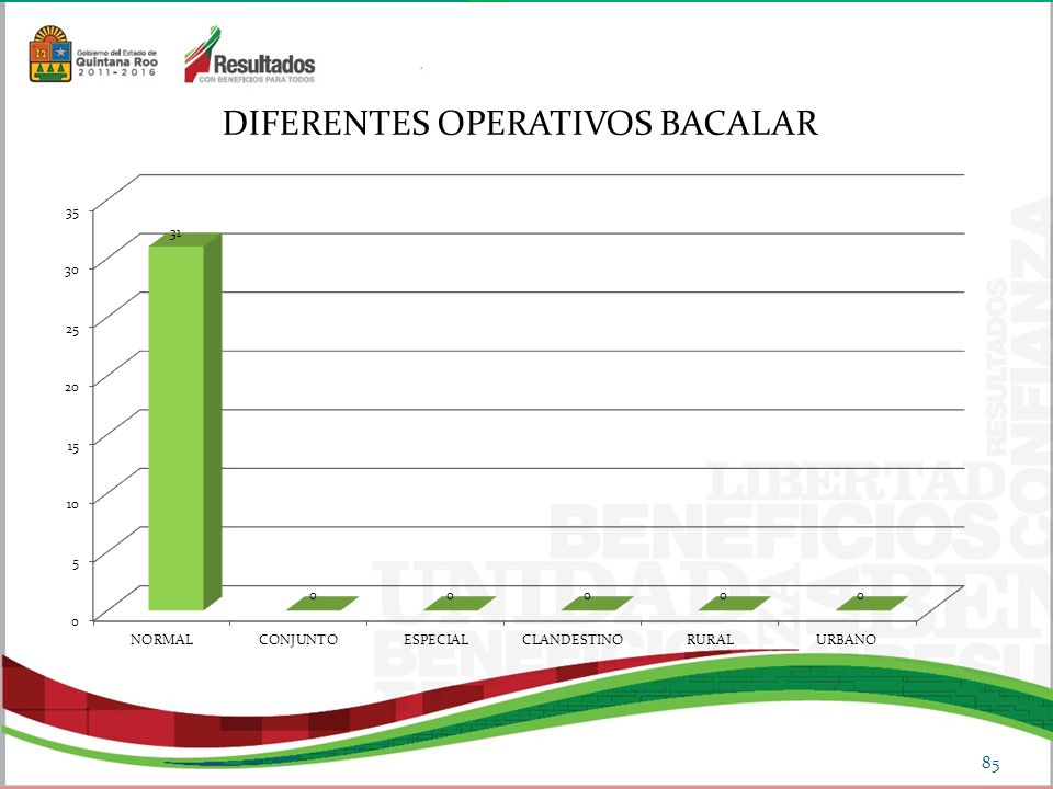 DIFERENTES OPERATIVOS BACALAR