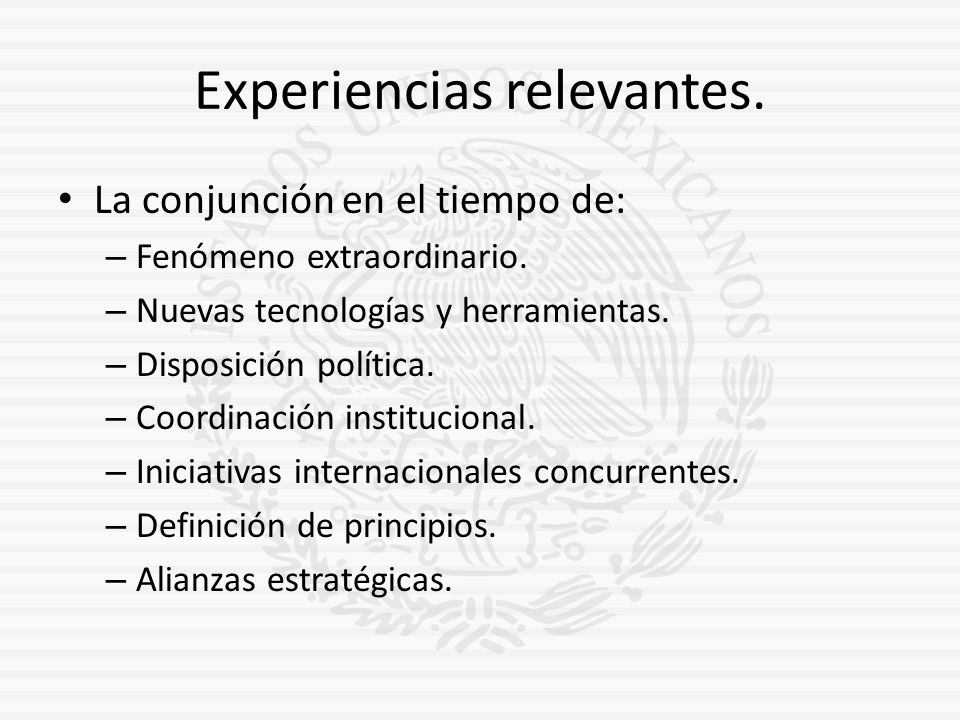 Experiencias relevantes.