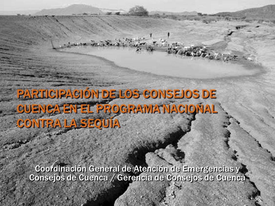 Participación de los Consejos de Cuenca en el Programa Nacional Contra la Sequía