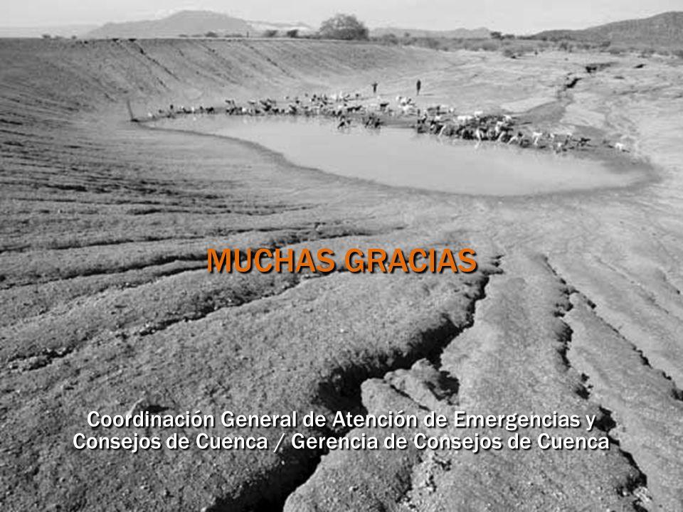 MUCHAS GRACIAS Coordinación General de Atención de Emergencias y Consejos de Cuenca / Gerencia de Consejos de Cuenca.