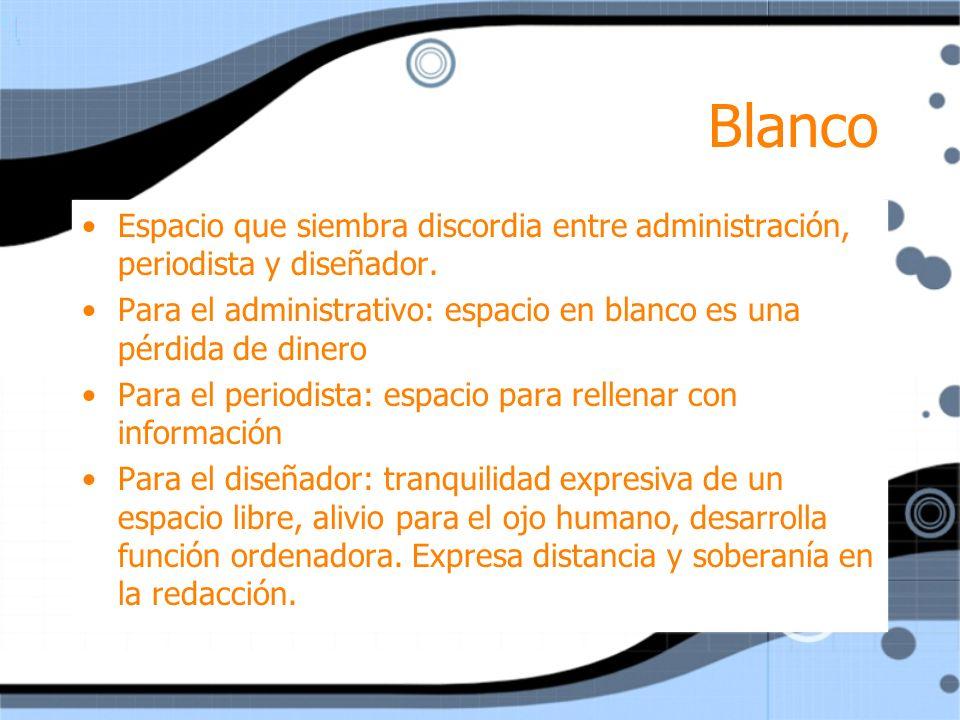 Blanco Espacio que siembra discordia entre administración, periodista y diseñador.