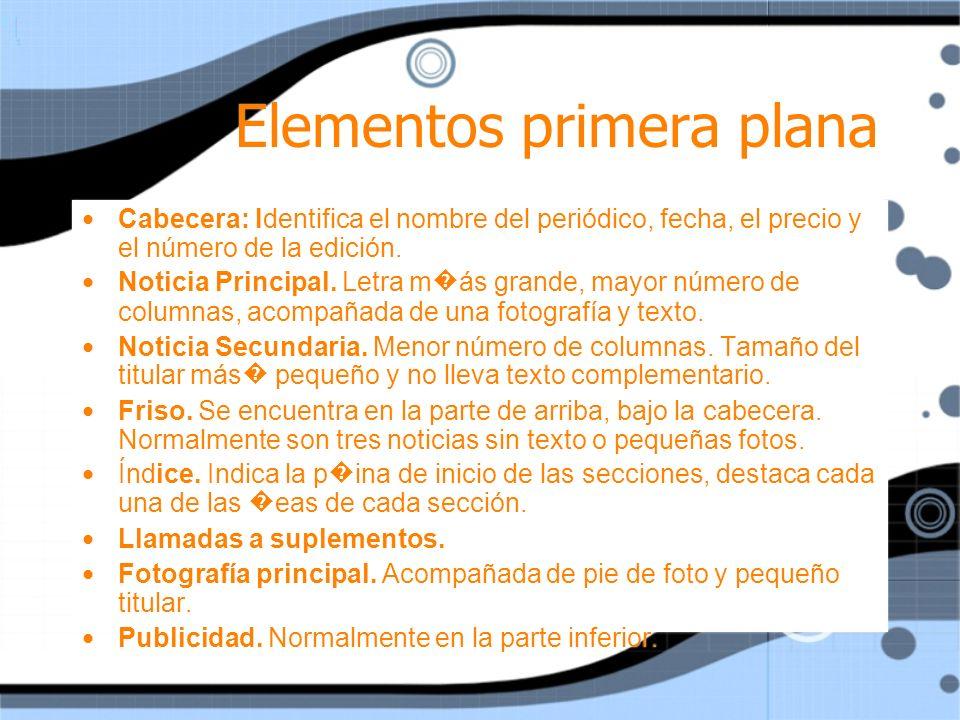 Elementos primera plana
