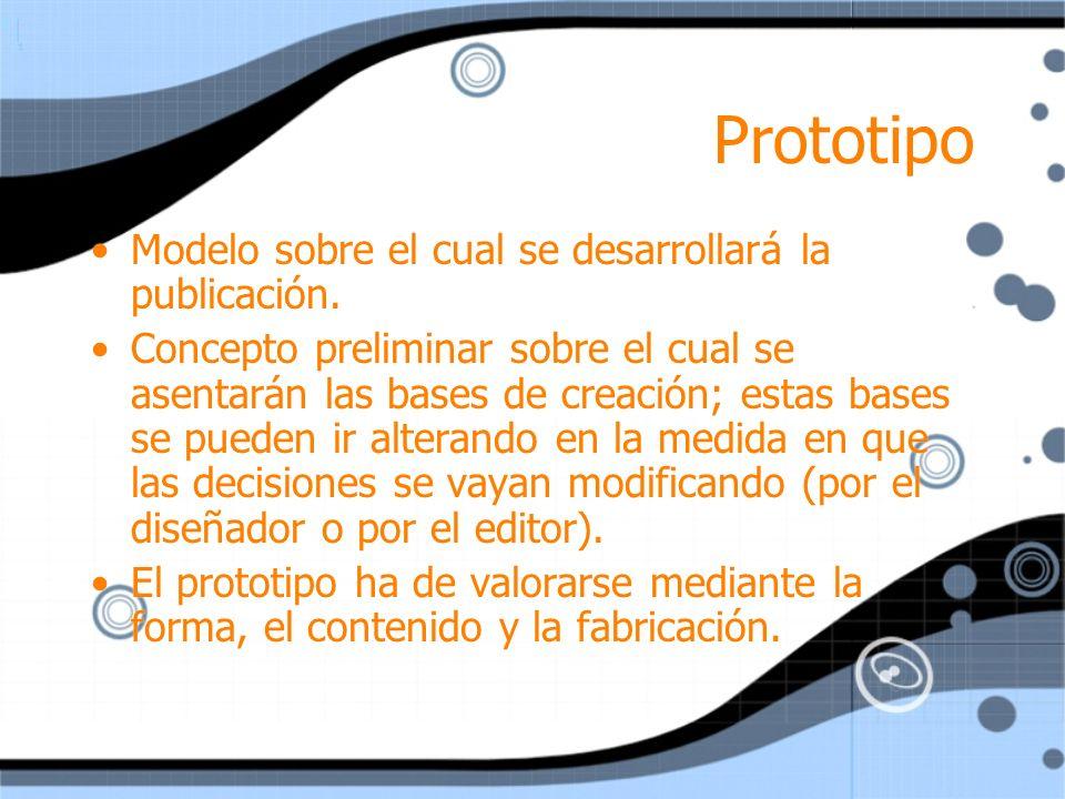 Prototipo Modelo sobre el cual se desarrollará la publicación.