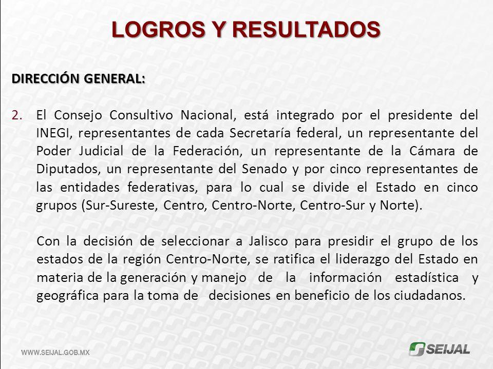 LOGROS Y RESULTADOS DIRECCIÓN GENERAL: