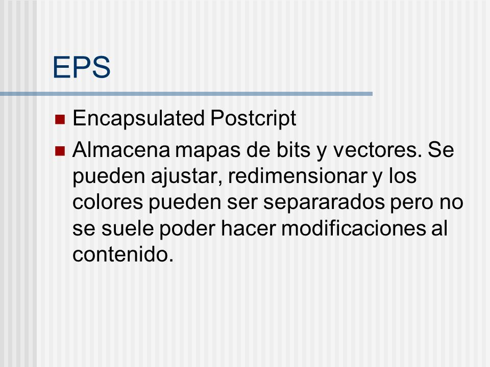 EPS Encapsulated Postcript