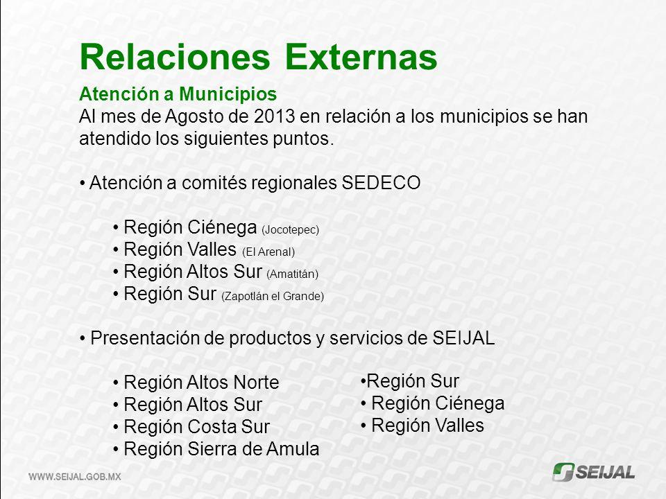 Relaciones Externas Atención a Municipios