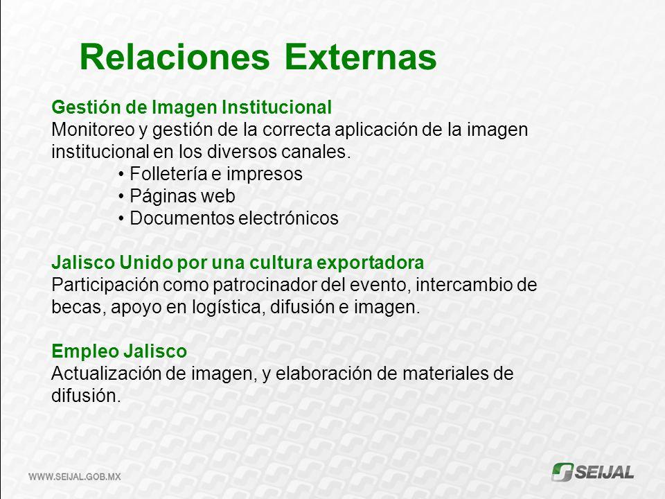 Relaciones Externas Gestión de Imagen Institucional
