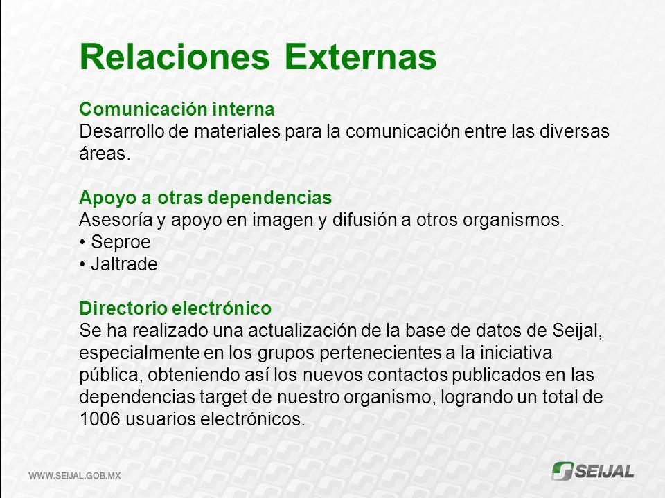 Relaciones Externas Comunicación interna