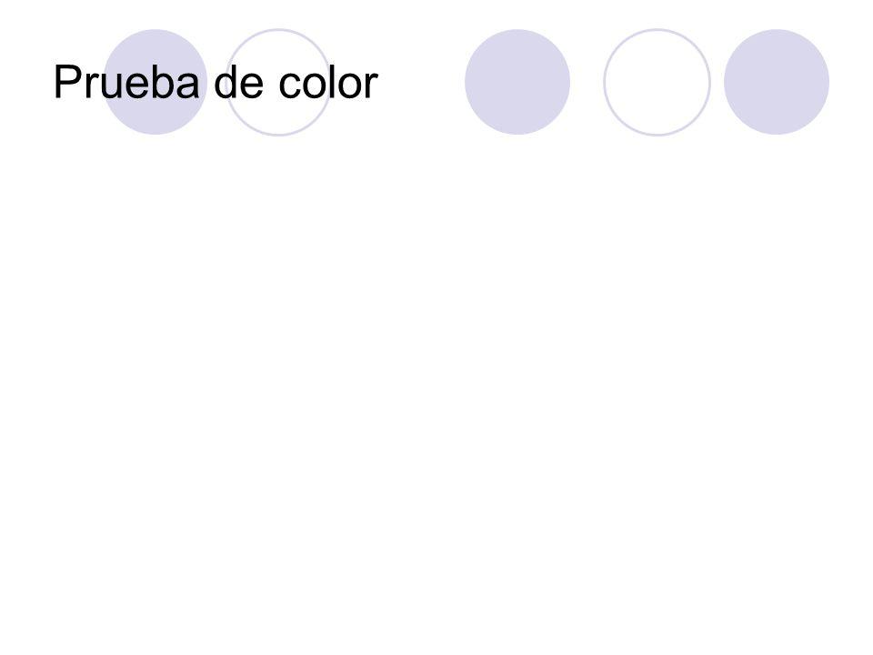 Prueba de color