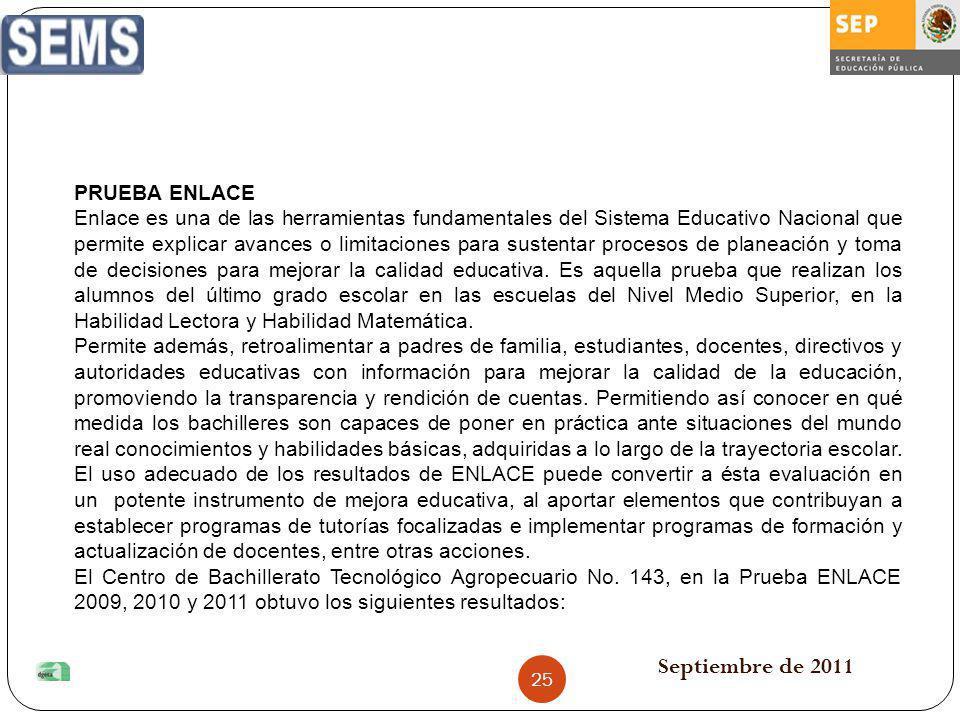 Septiembre de 2011 PRUEBA ENLACE