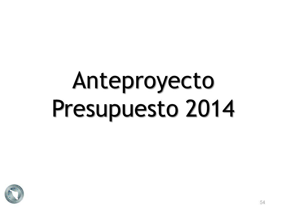 Anteproyecto Presupuesto 2014