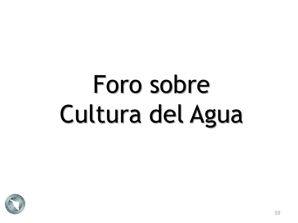 Foro sobre Cultura del Agua