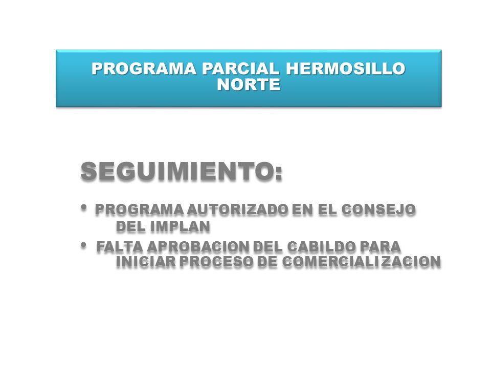 PROGRAMA PARCIAL HERMOSILLO NORTE