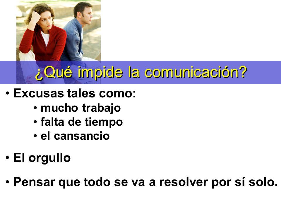 ¿Qué impide la comunicación
