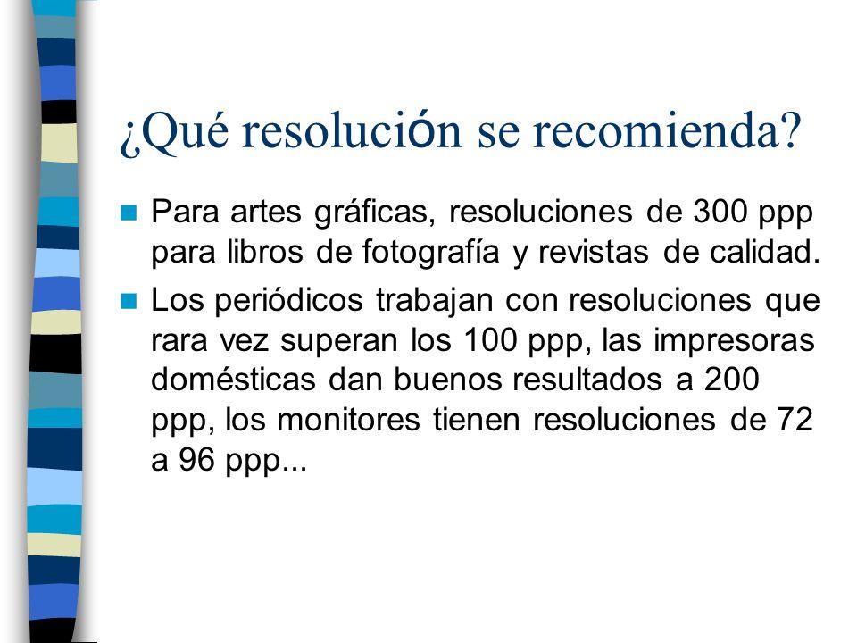 ¿Qué resolución se recomienda