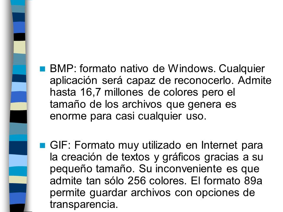 BMP: formato nativo de Windows