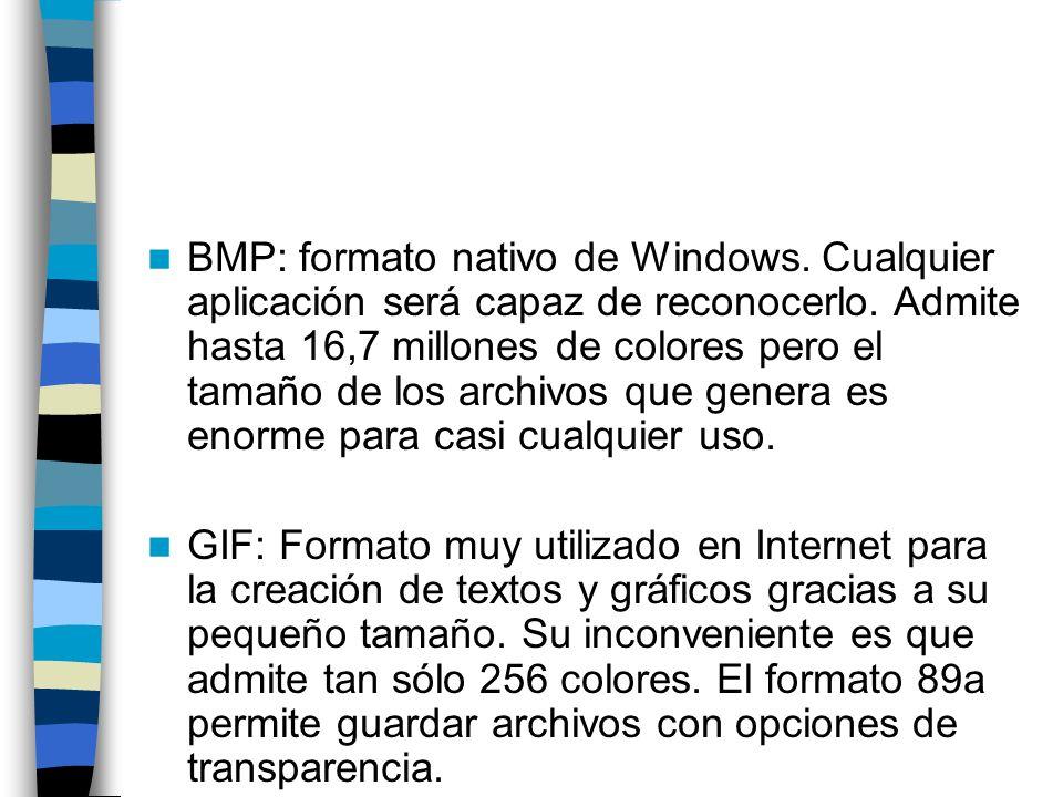 BMP: formato nativo de Windows