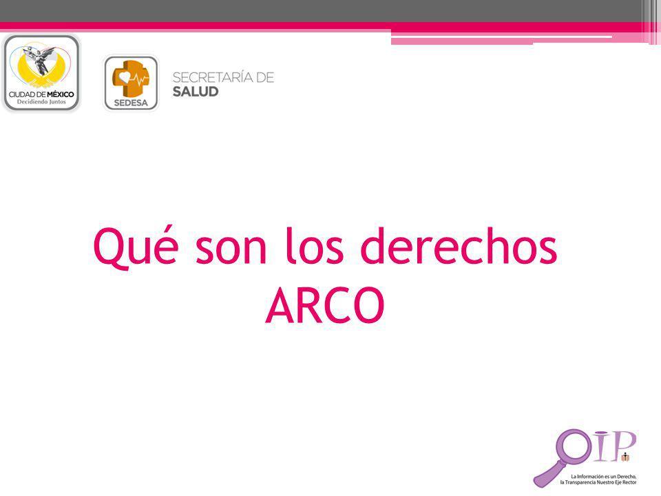 Qué son los derechos ARCO