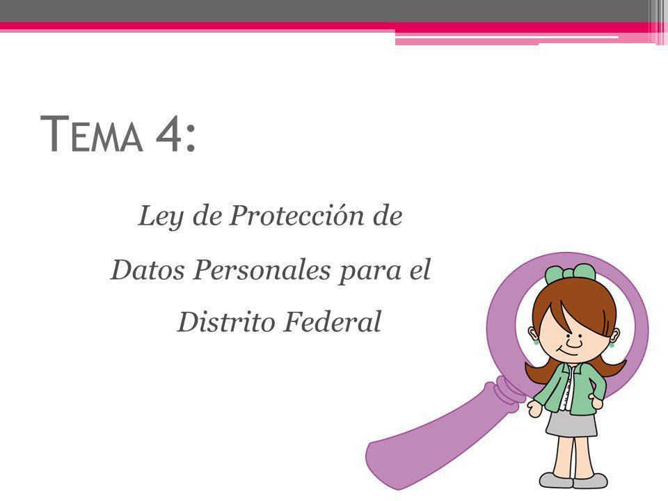 Datos Personales para el Distrito Federal