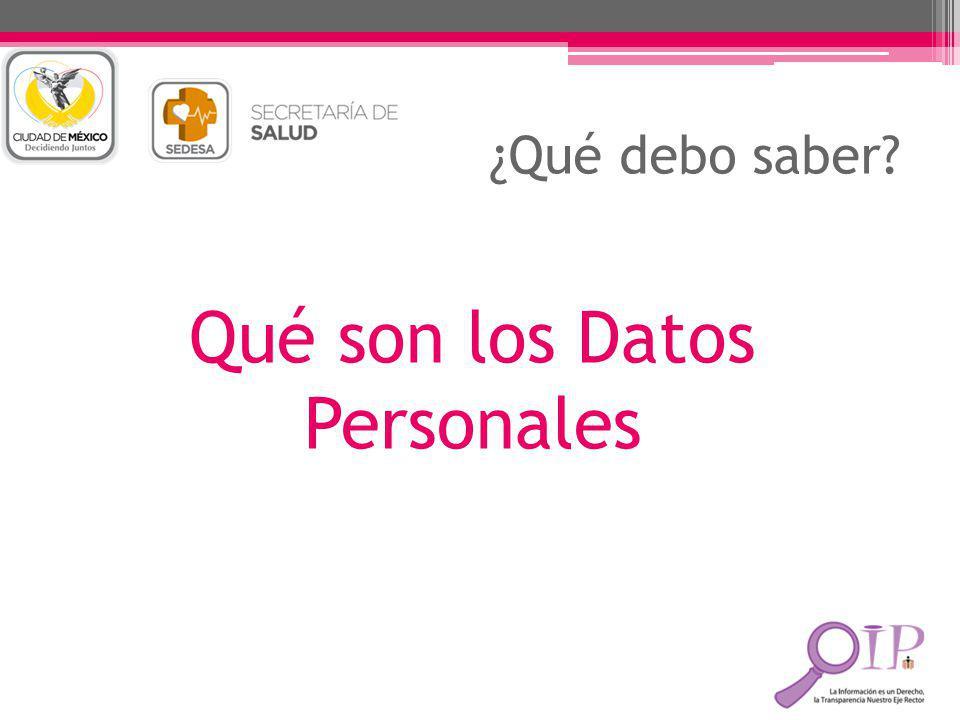 Qué son los Datos Personales