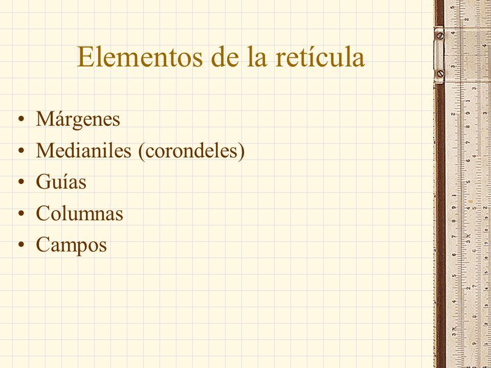 Elementos de la retícula