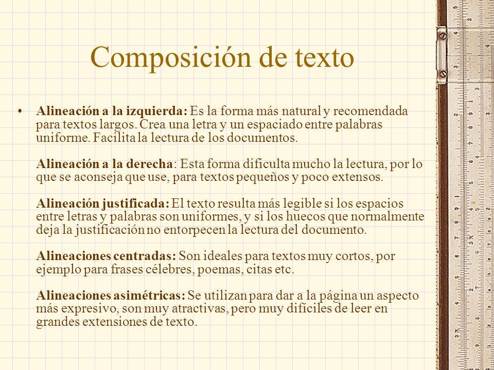 Composición de texto