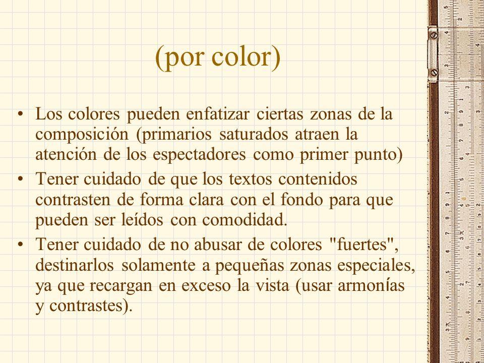 (por color)