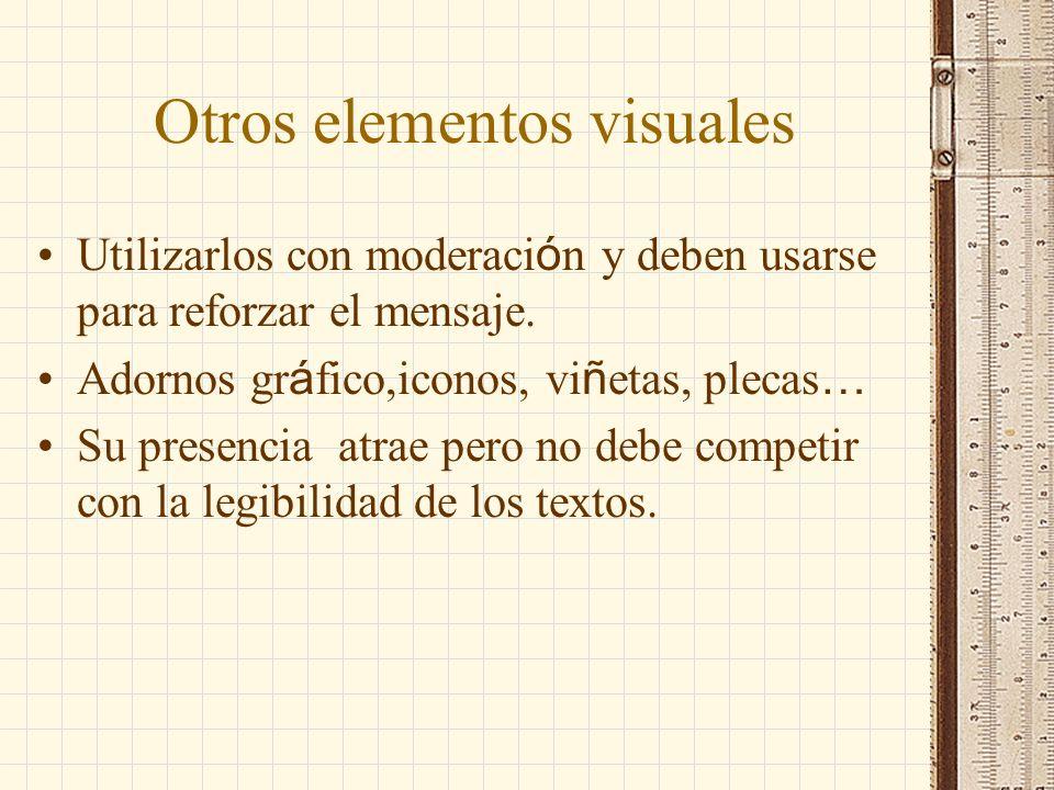 Otros elementos visuales