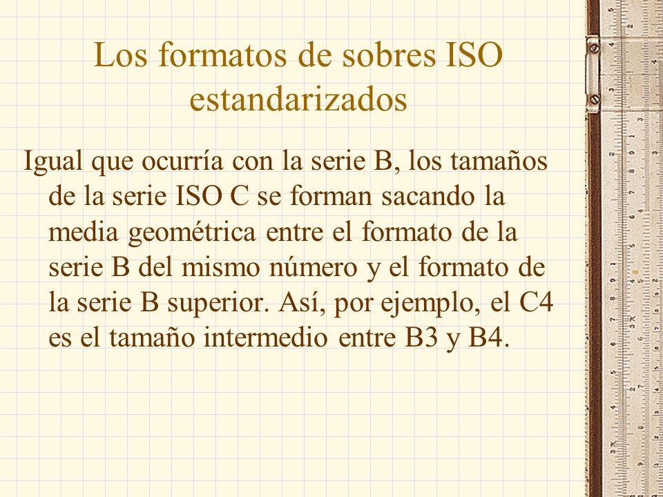 Los formatos de sobres ISO estandarizados
