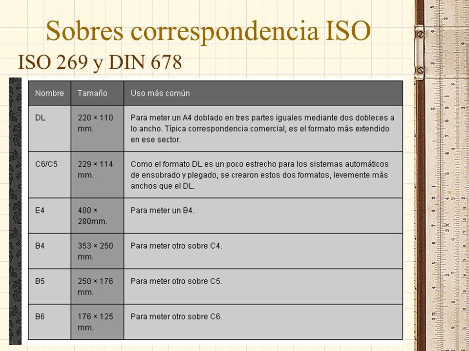 Sobres correspondencia ISO