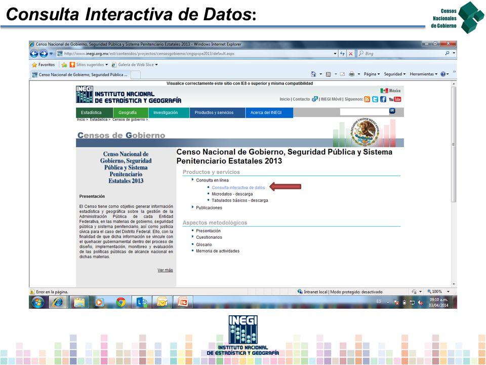 Consulta Interactiva de Datos: